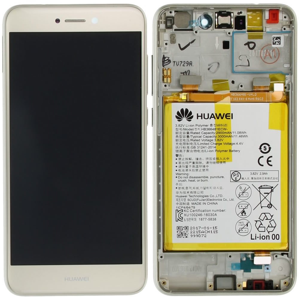 huawei p8 lite 2017 pra l21 display module frontcover lcd digitizer battery gold 02351dyp. Black Bedroom Furniture Sets. Home Design Ideas