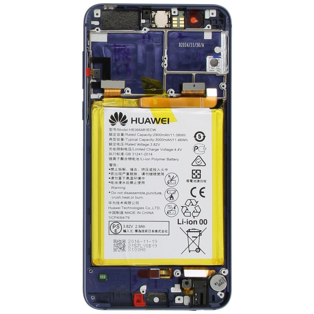 Huawei Honor 8 Display module frontcover+lcd+digitizer + battery blue 02350USN 02350USN image-2
