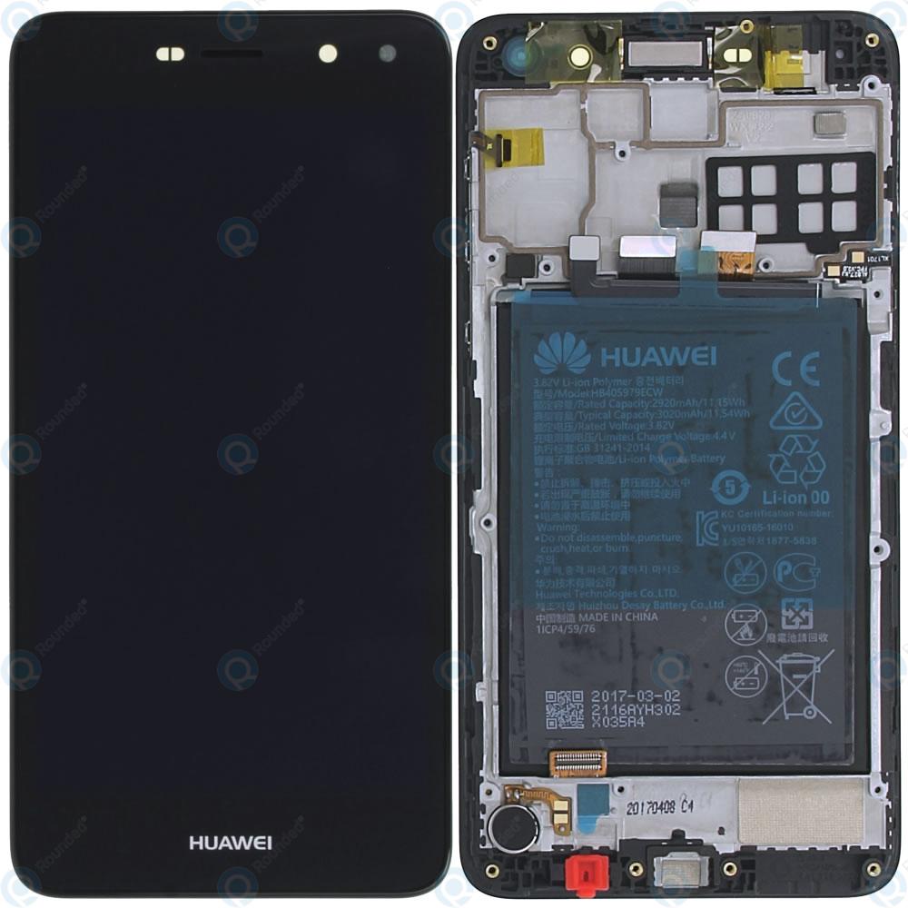 cheapest los angeles wide range Huawei Y5 2017 (MYA-L22) Display module frontcover+lcd+digitizer+battery  dark grey 02351DMD