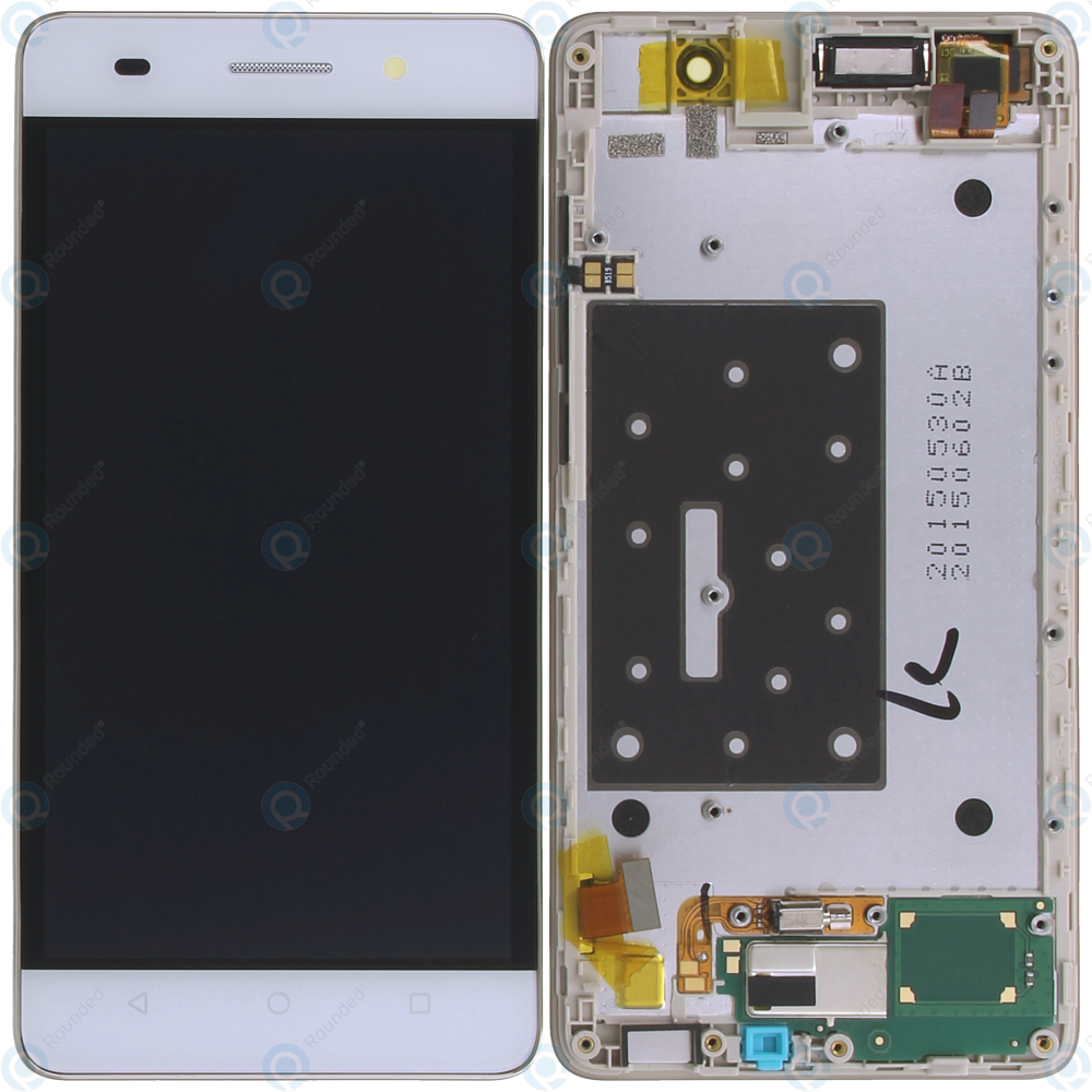 Huawei Honor 4C (CHM-U01) Display module frontcover+lcd+digitizer white  02350GBN