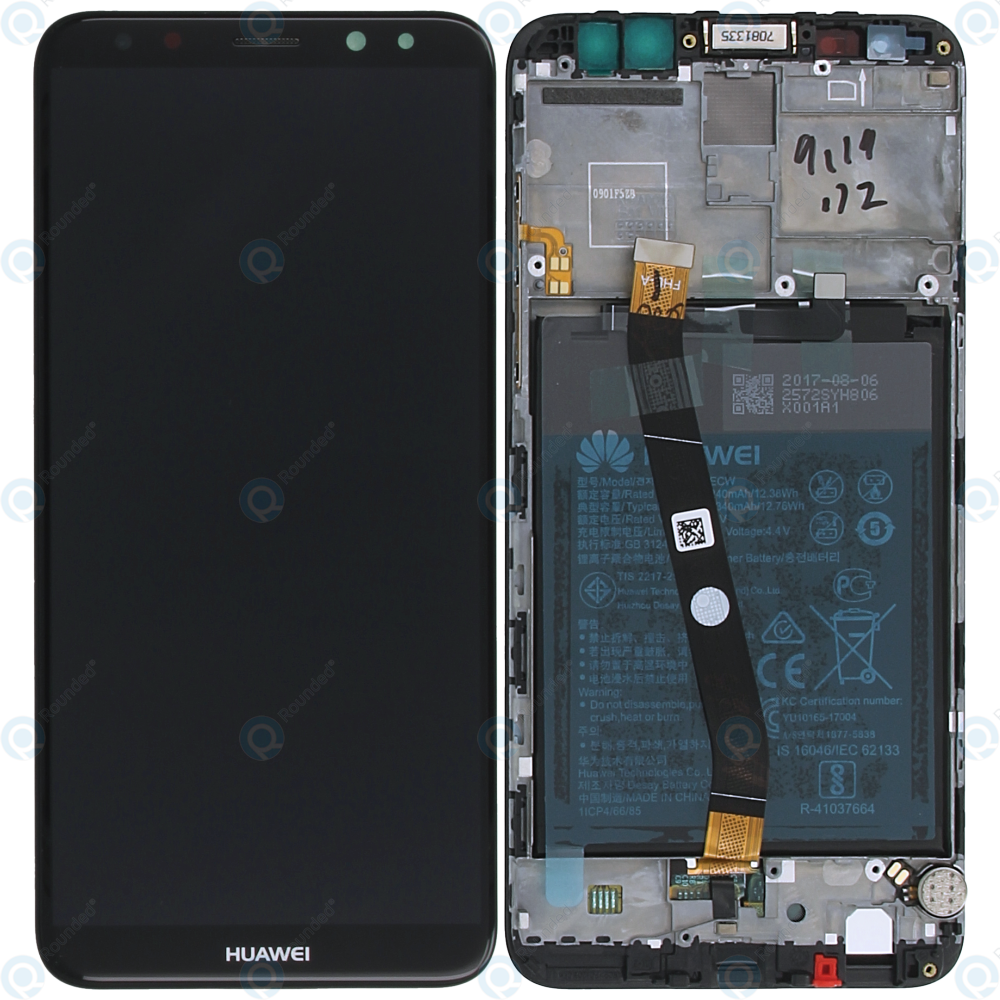Huawei Mate 10 Lite (RNE-L01, RNE-L21) Display module  frontcover+lcd+digitizer+battery black 02351QCY