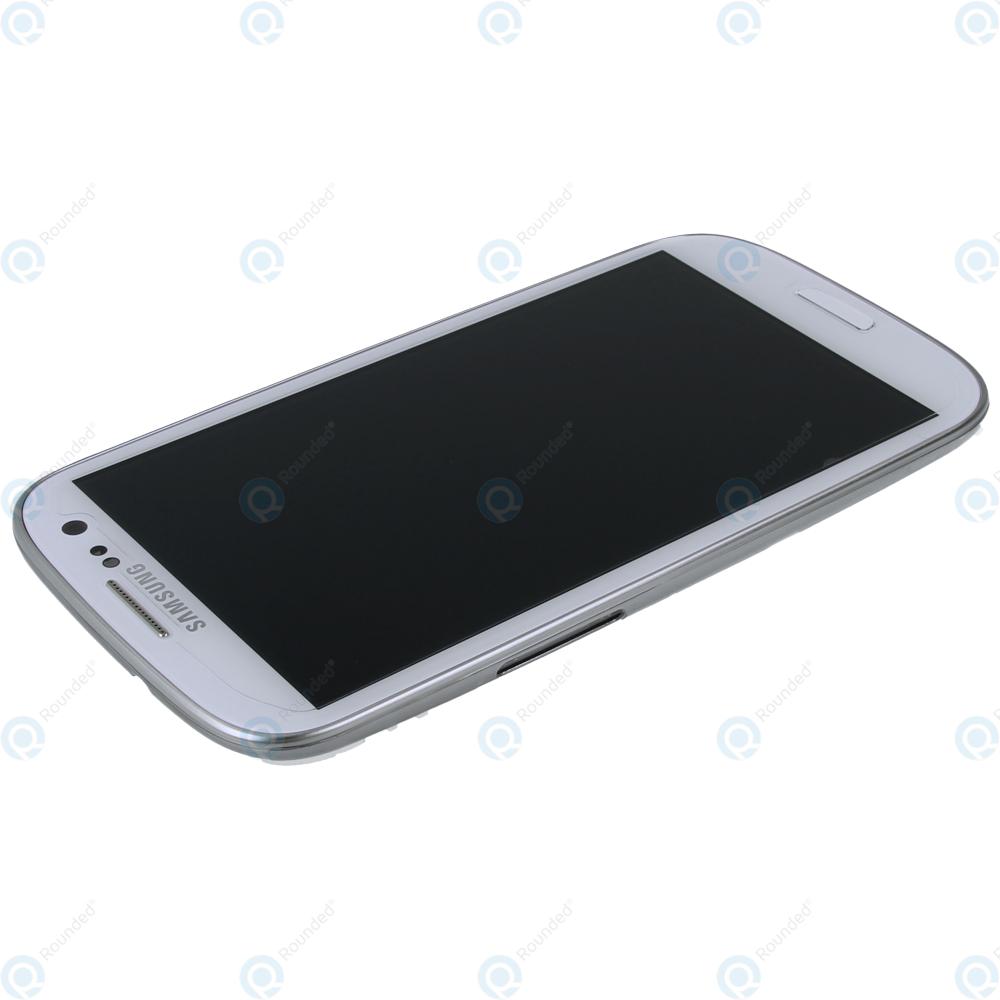 Samsung S3 Neo I9300i I9301 Display Unit Complete White Gh97 15472b Lcd Touchscreen Mini Original