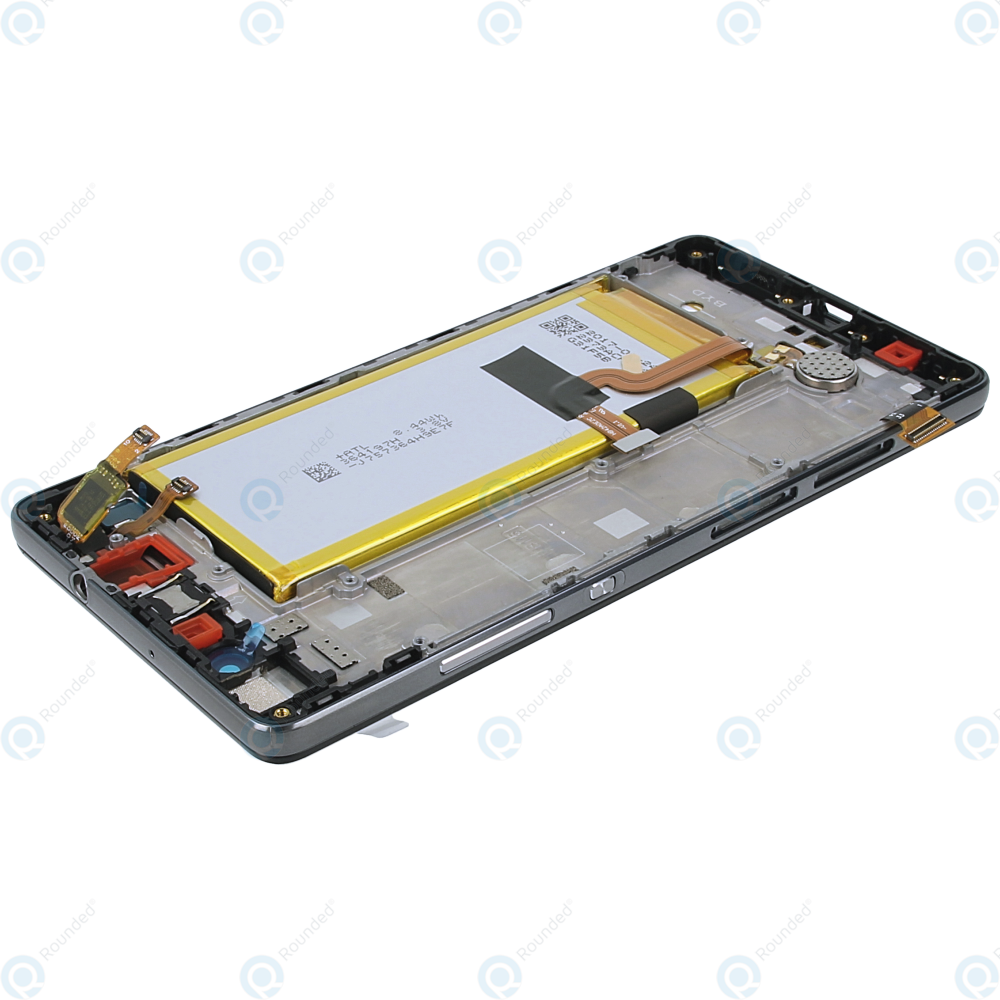 Huawei P8 Lite (ALE-L21) Display module frontcover+lcd+digitizer+battery  black 02350KCW