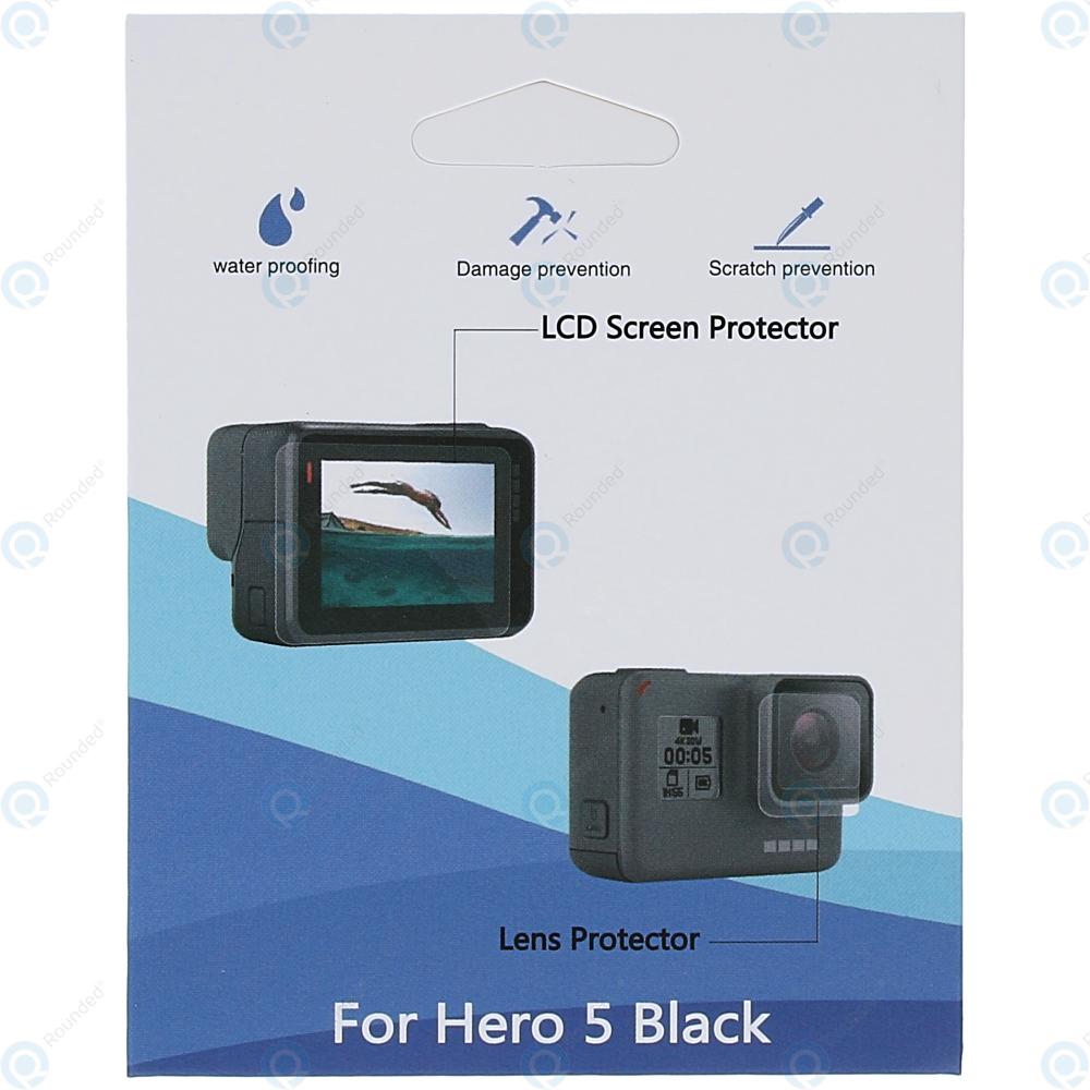 25c22c20bac7 GoPro Hero 5 Black, Hero 6 Black Tempered glass for display and lens