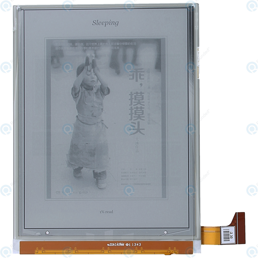Kobo Aura H2O Edition 1 (N250-KU-BK-K-EP) E-ink Display ED068TG1 (LF)