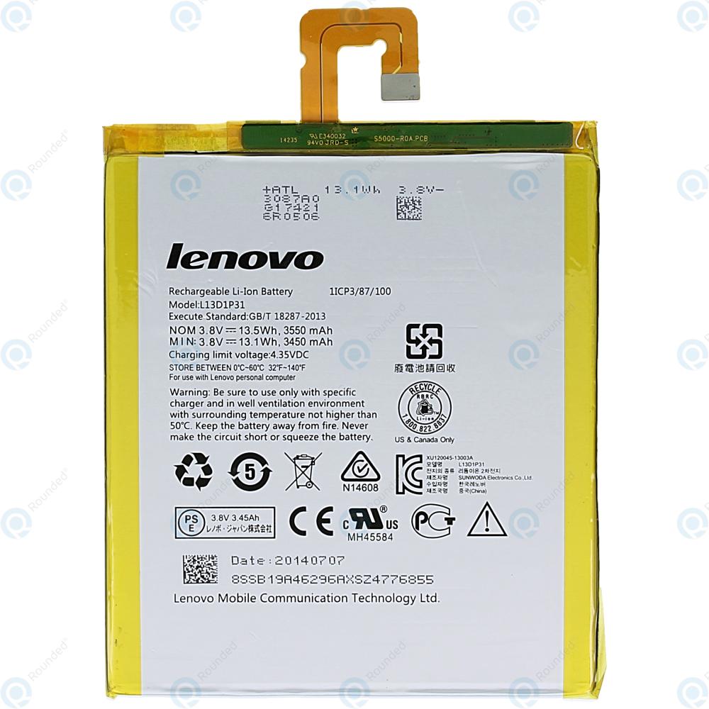 Lenovo Tab A7-50 (A3500) Battery 3550mAh L13D1P31