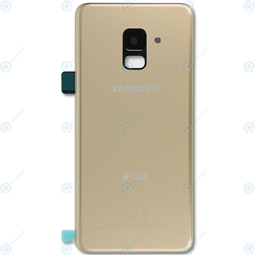 Samsung Galaxy A8 2018 Duos (SM-A530F/FD) Battery cover gold GH82-15557C