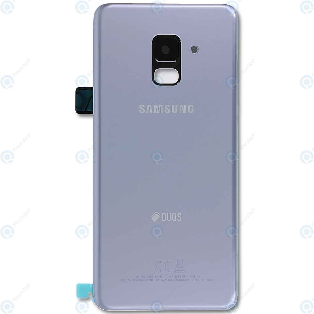 Samsung Galaxy A8 2018 Duos SM A530F FD Battery Cover Orchid Grey GH82 15557B