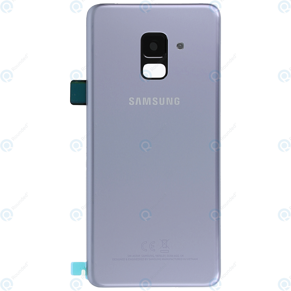samsung galaxy a8 2018 sm a530f battery cover orchid grey gh82 15551b. Black Bedroom Furniture Sets. Home Design Ideas