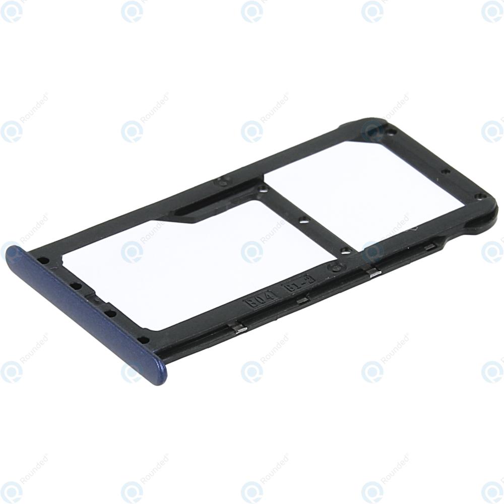 Huawei Honor 7X (BND-L21) Sim tray + MicroSD tray blue 51661GHP