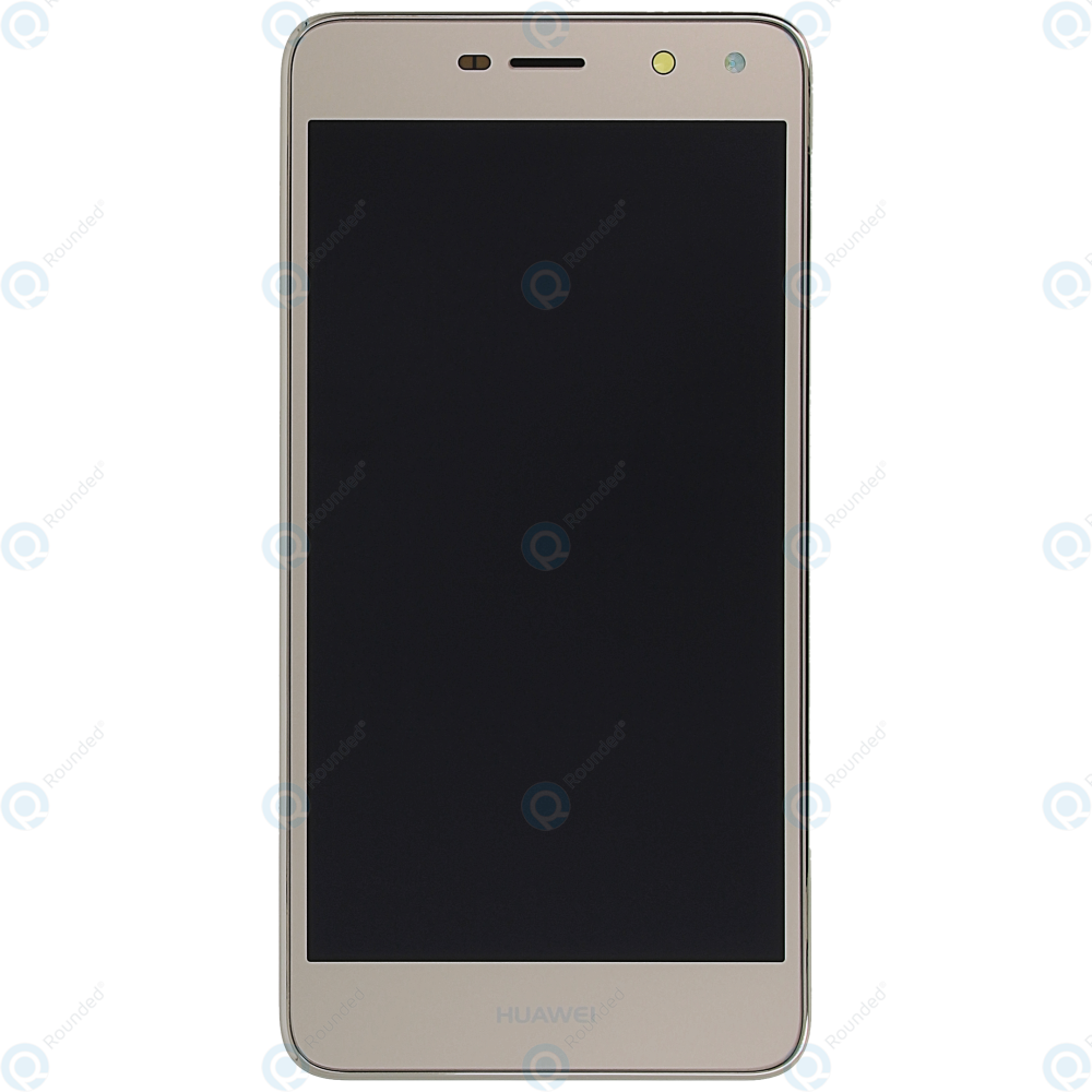 Huawei Y5 2017 (MYA-L22) Display module frontcover+lcd+digitizer+battery  gold 02351KUK