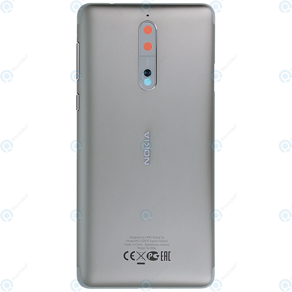 Nokia 8 Battery cover silver grey 20NB1SW0014 ...