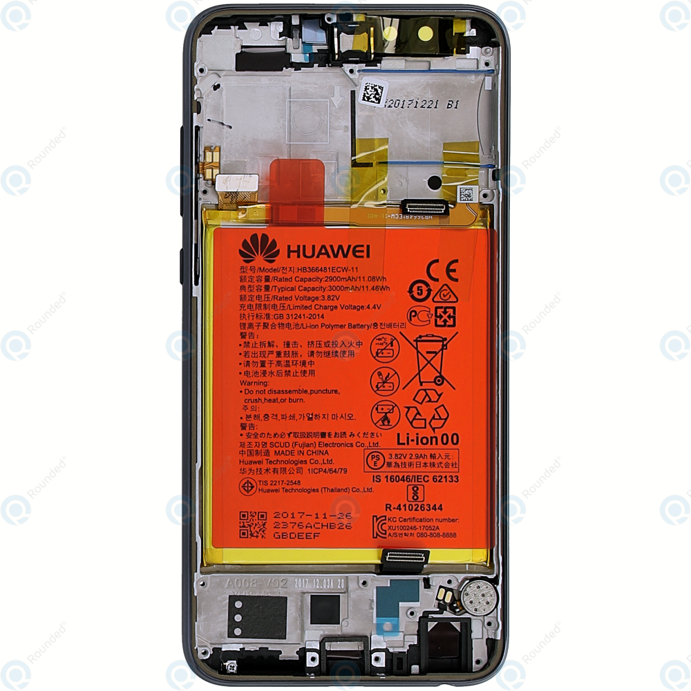 Huawei Honor 9 Lite (LLD-L31) Display module  frontcover+lcd+digitizer+battery black 02351SNN