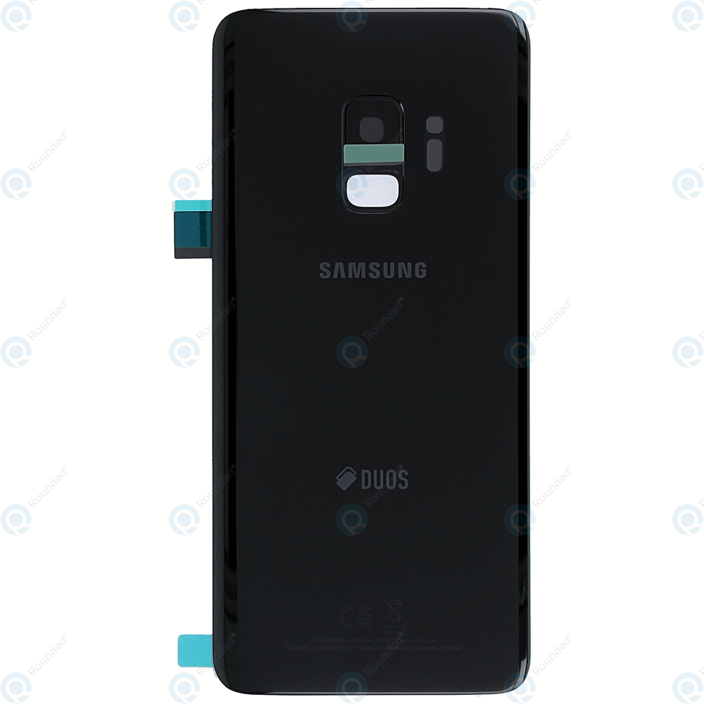 samsung galaxy s9 duos sm g960fd battery cover midnight black gh82 15875a. Black Bedroom Furniture Sets. Home Design Ideas