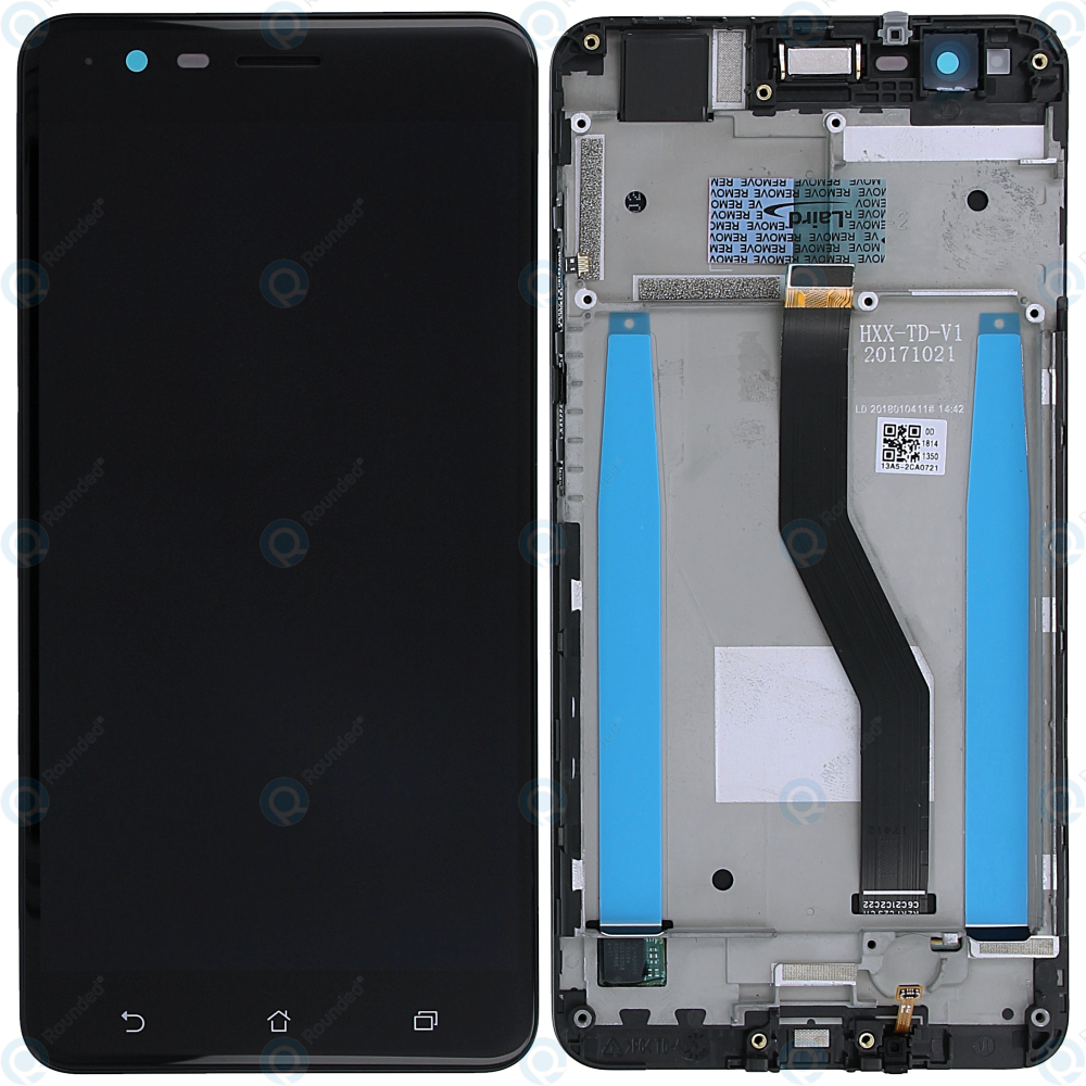 Asus Zenfone 3 Zoom (ZE553KL) Display module frontcover+lcd+digitizer black  90AZ01H3-R20020