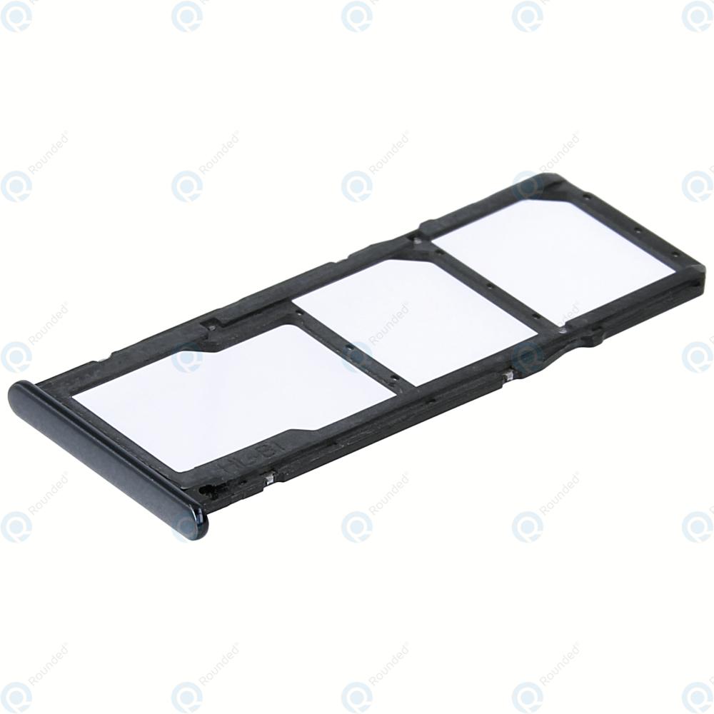 Huawei Y7 Prime 2018, Honor 7C Sim tray + MicroSD tray black