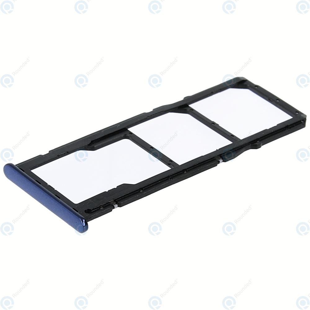 Huawei Y7 Prime 2018, Honor 7C Sim tray + MicroSD tray blue