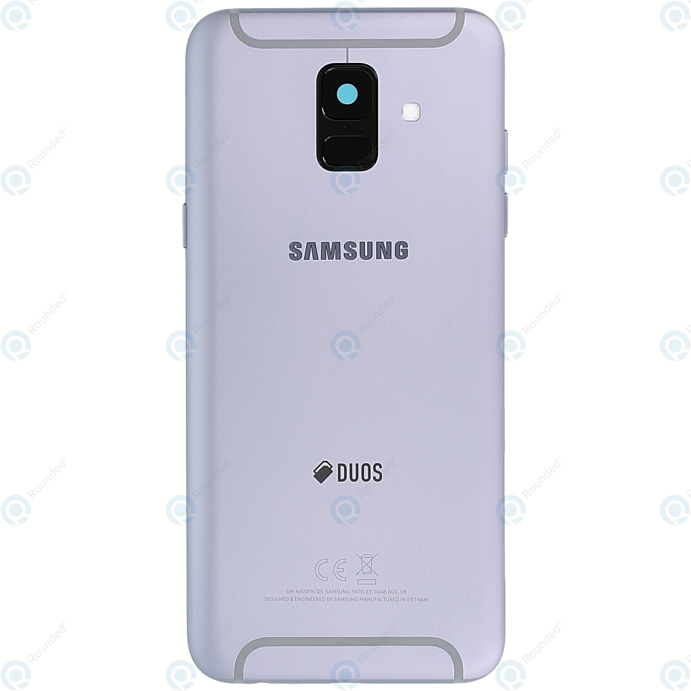 uk availability 51ae6 0cb63 Samsung Galaxy A6 2018 Duos (SM-A600FN) Battery cover lavender GH82-16423B