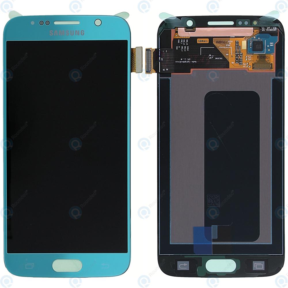 Samsung Galaxy S6 (SM-G920F) Display module LCD + Digitizer blue GH97-17260D
