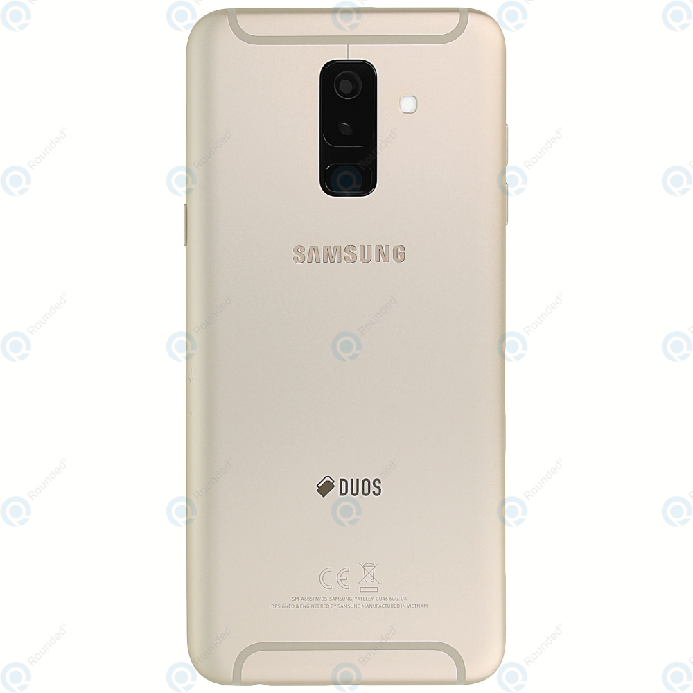 super popular 7adde 57574 Samsung Galaxy A6+ 2018 Duos (SM-A605FN) Battery cover gold GH82-16431D