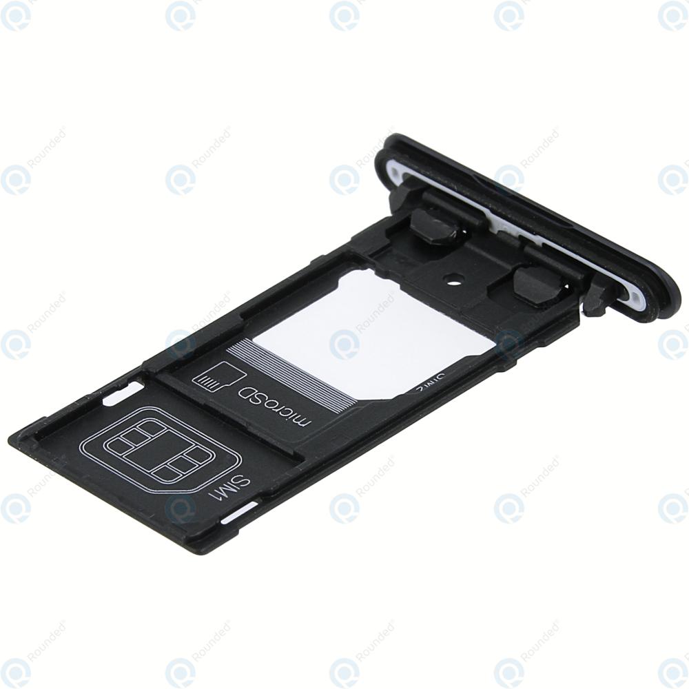 Sony Xperia XZ2 Compact Dual (H8324) Sim tray + MicroSD tray black 1313-0973