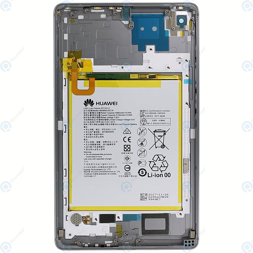 Huawei MediaPad M5 8 4 (SHT-W09, SHT-AL09) Battery cover space grey 02351VWE