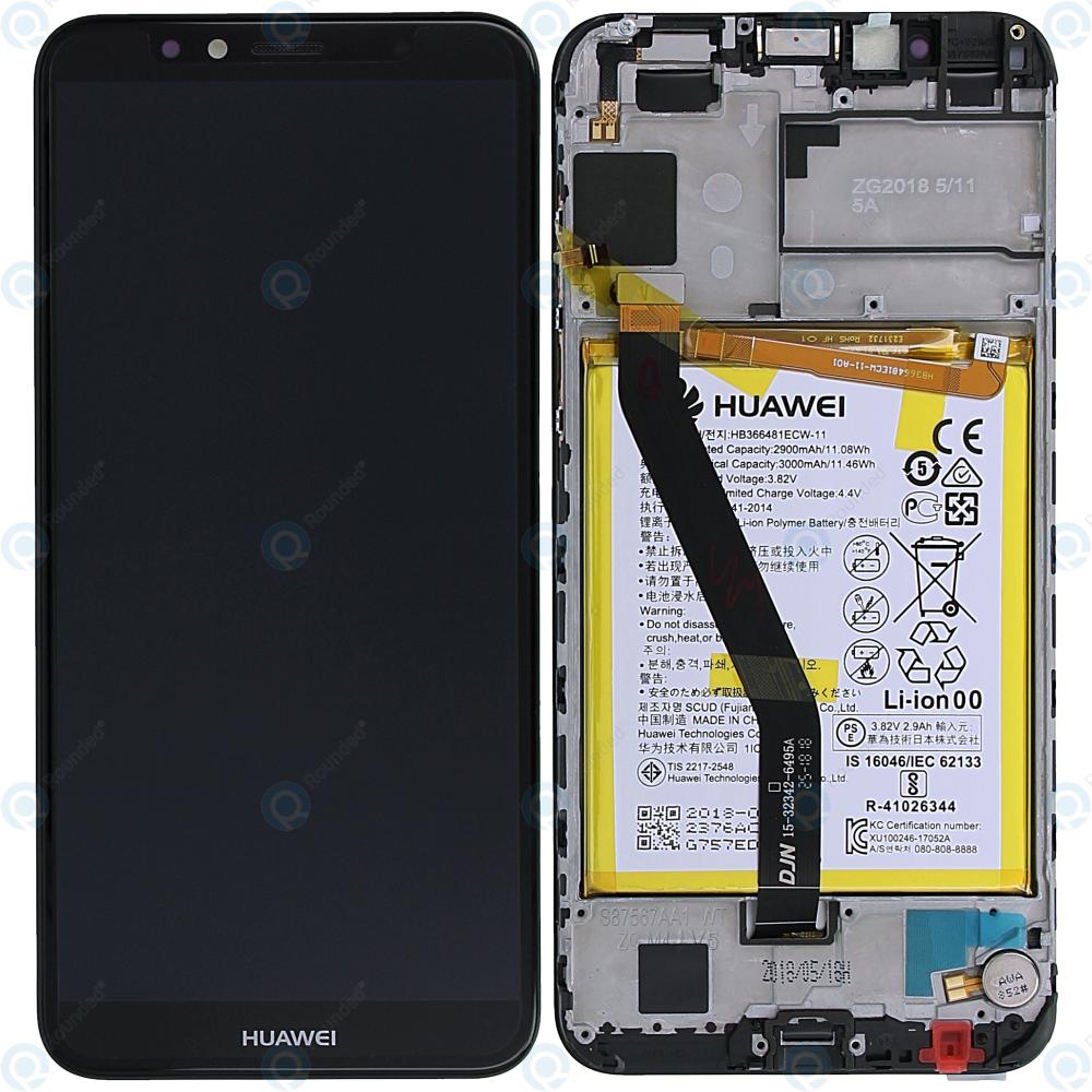 Huawei Y6 2018 (ATU-L21, ATU-L22) Display module  frontcover+lcd+digitizer+battery black 02351WLJ