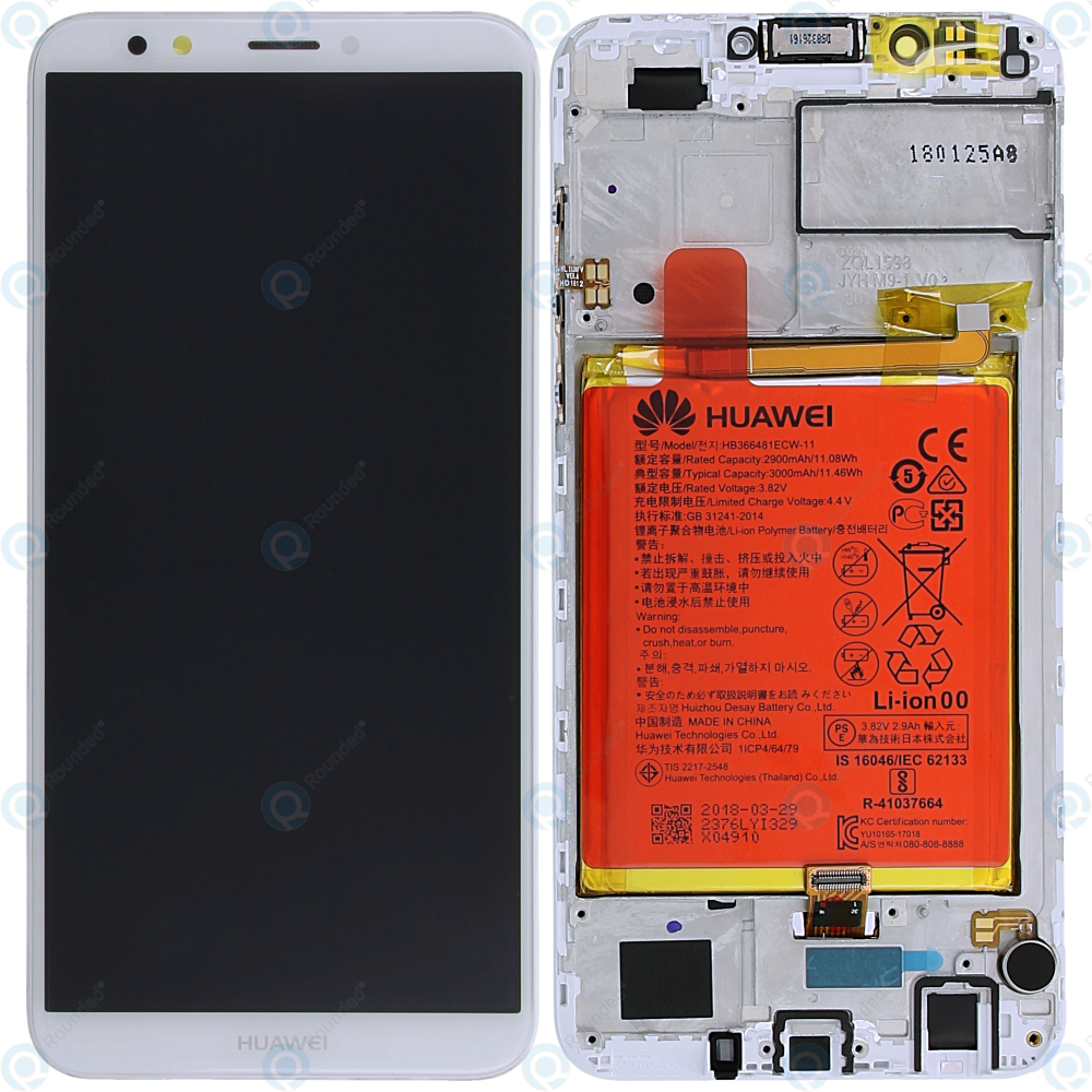 Huawei Y7 2018 (LDN-L01, LDN-L21) Display module  frontcover+lcd+digitizer+battery white 02351USB