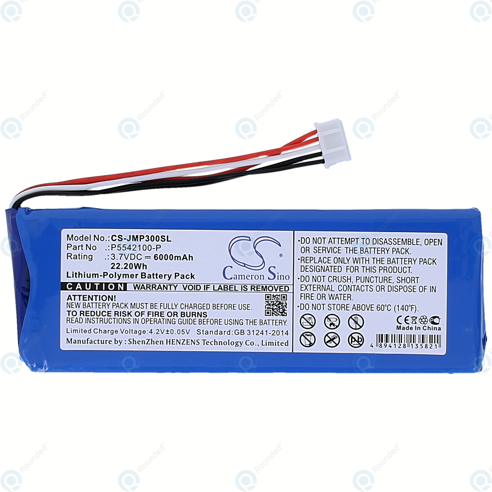 3.7V Battery for JBL Charge 2 Plus Premium Cell 6000mAh Li-Polymer New UK