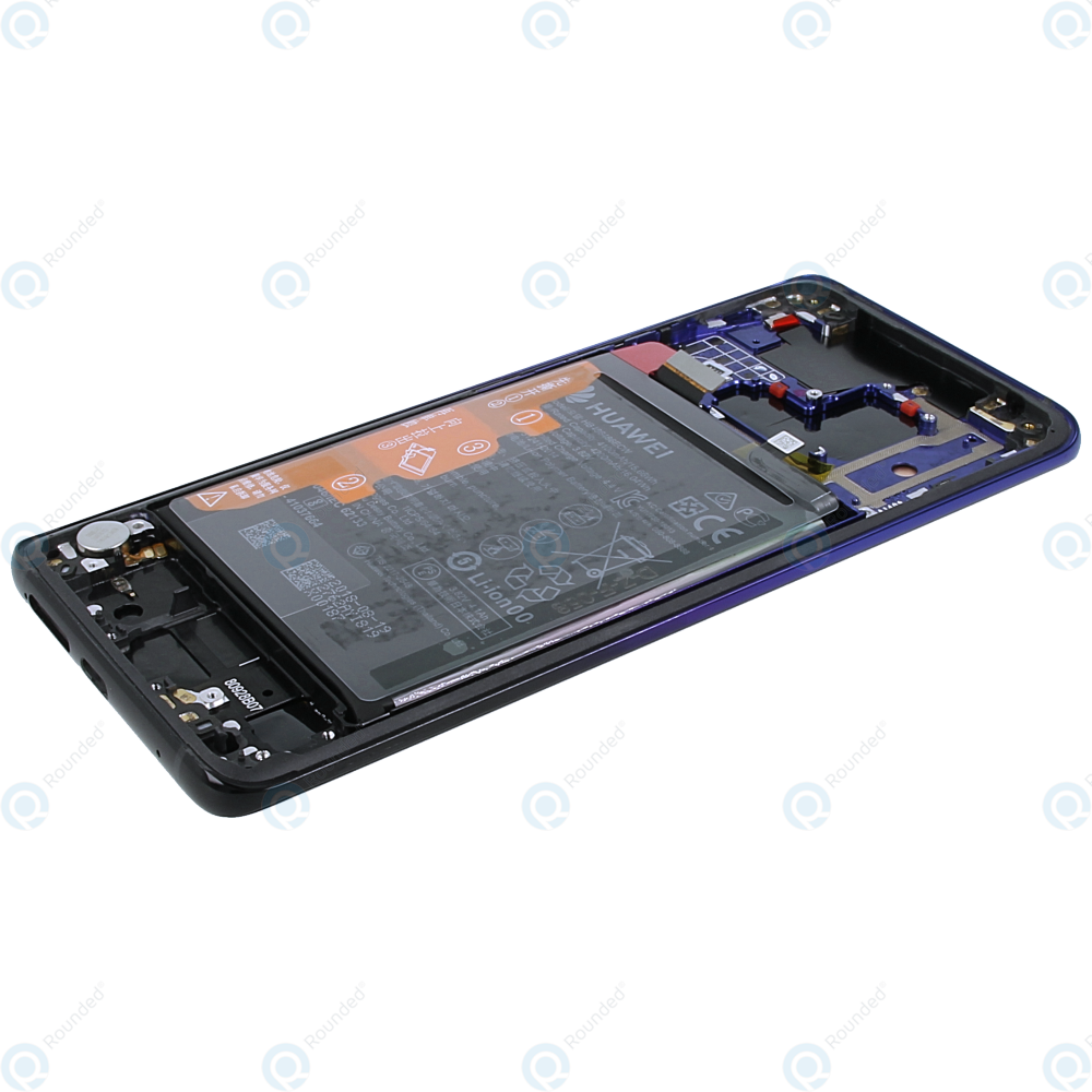 Huawei Mate 20 Pro (LYA-L09, LYA-L29, LYA-L0C) Display module  frontcover+lcd+digitizer+battery twilight 02352GGC