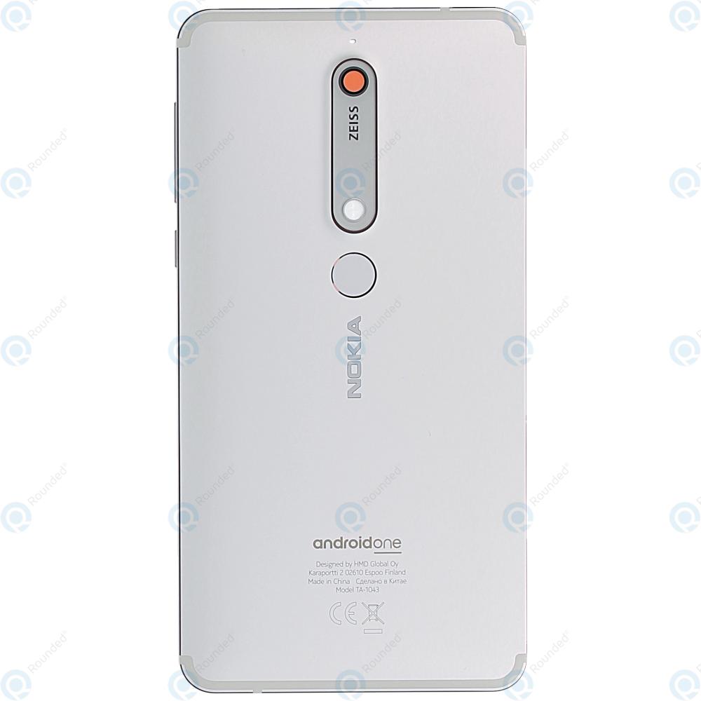 buy online d295d c1437 Nokia Nokia 6.1 (TA-1043) Battery cover white iron 20PL2WW0006