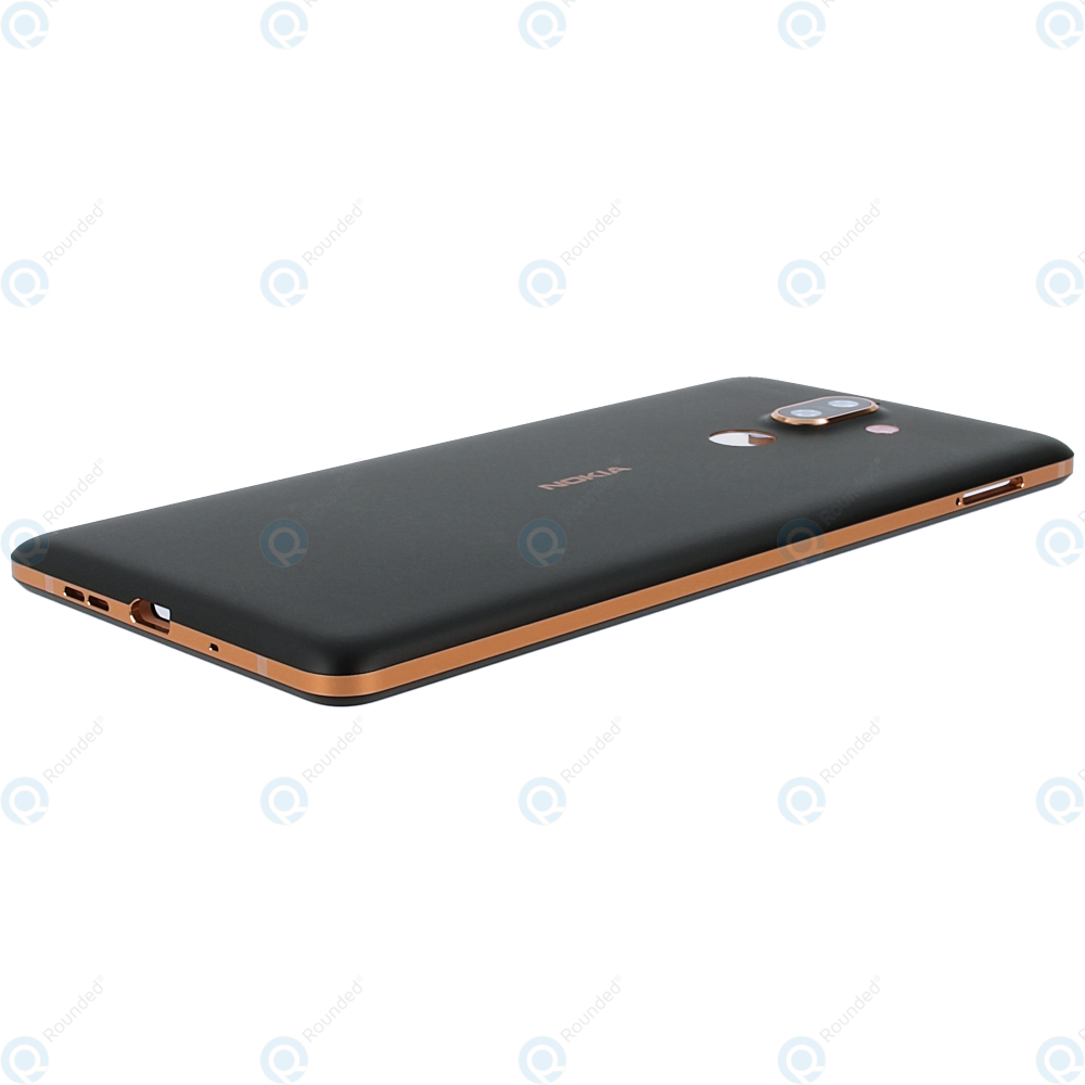 Nokia 7 Plus (TA-1046, TA-1055) Battery cover black copper