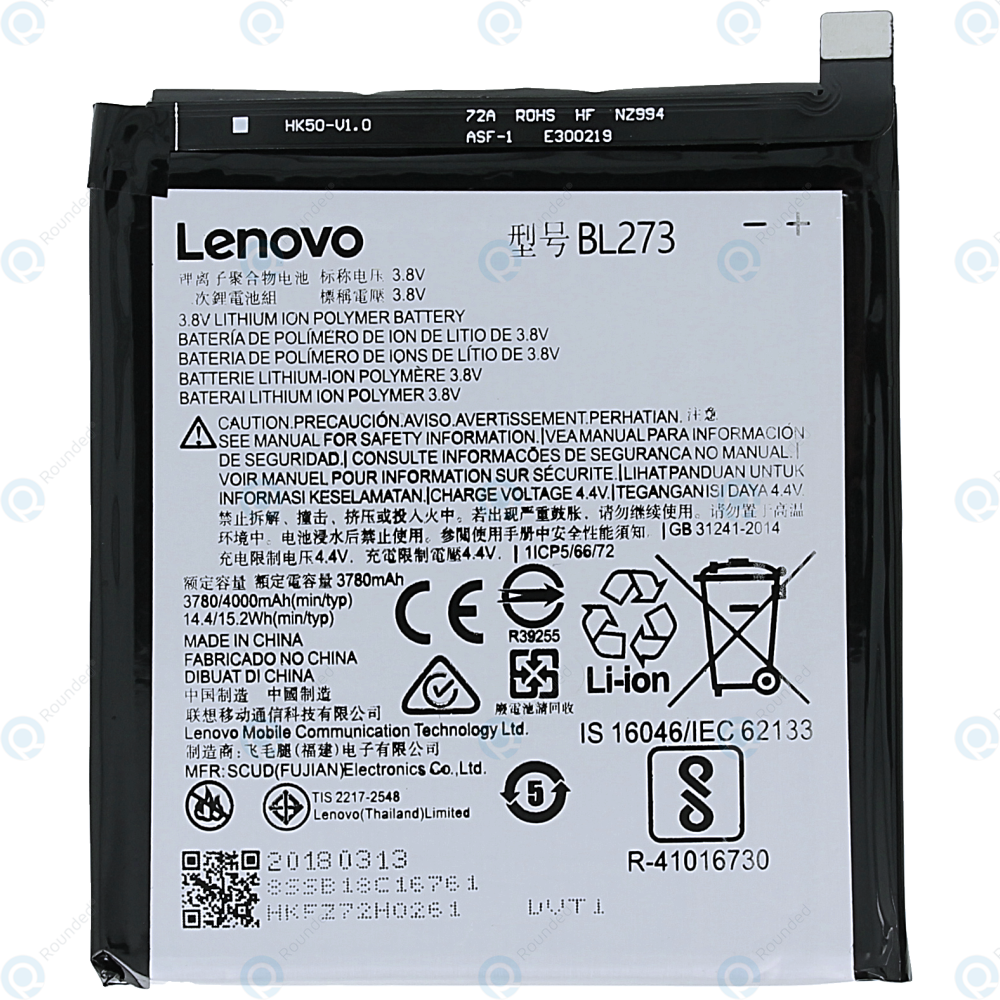 Lenovo K6 Note Battery BL273 4000mAh