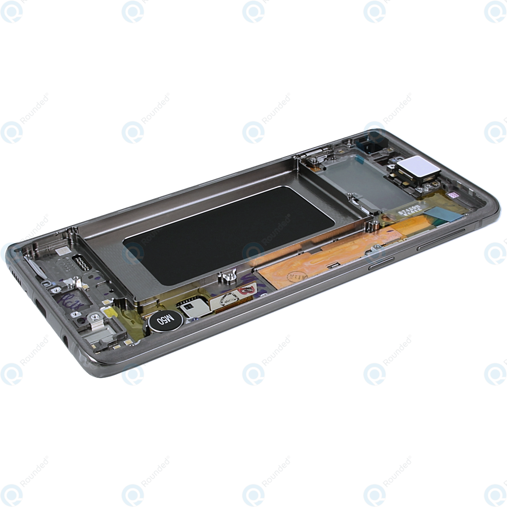 Samsung Galaxy S10 (SM-G973F) Display unit complete prism black GH82-18850A