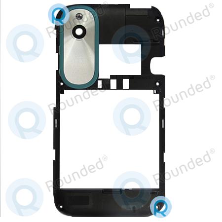 new concept f48a2 114a9 HTC Desire X T328e Back cover, Back frame Black spare part 3H120903  37H10198-00M-A-AL