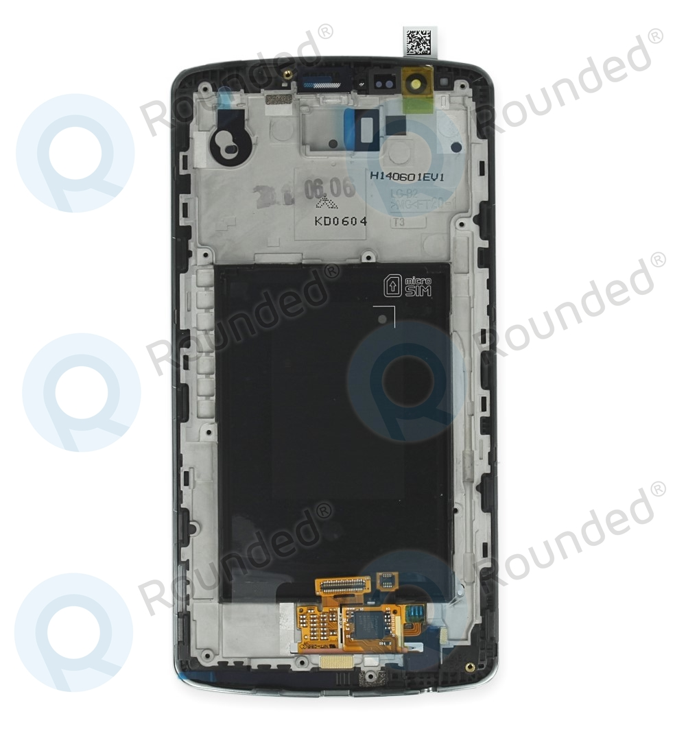 LG G3 (D855) Display module frontcover+lcd+digitizer white ACQ87190301 backside