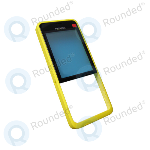 detailed look a8833 4ab73 Nokia 301 Dual Sim Front cover yellow