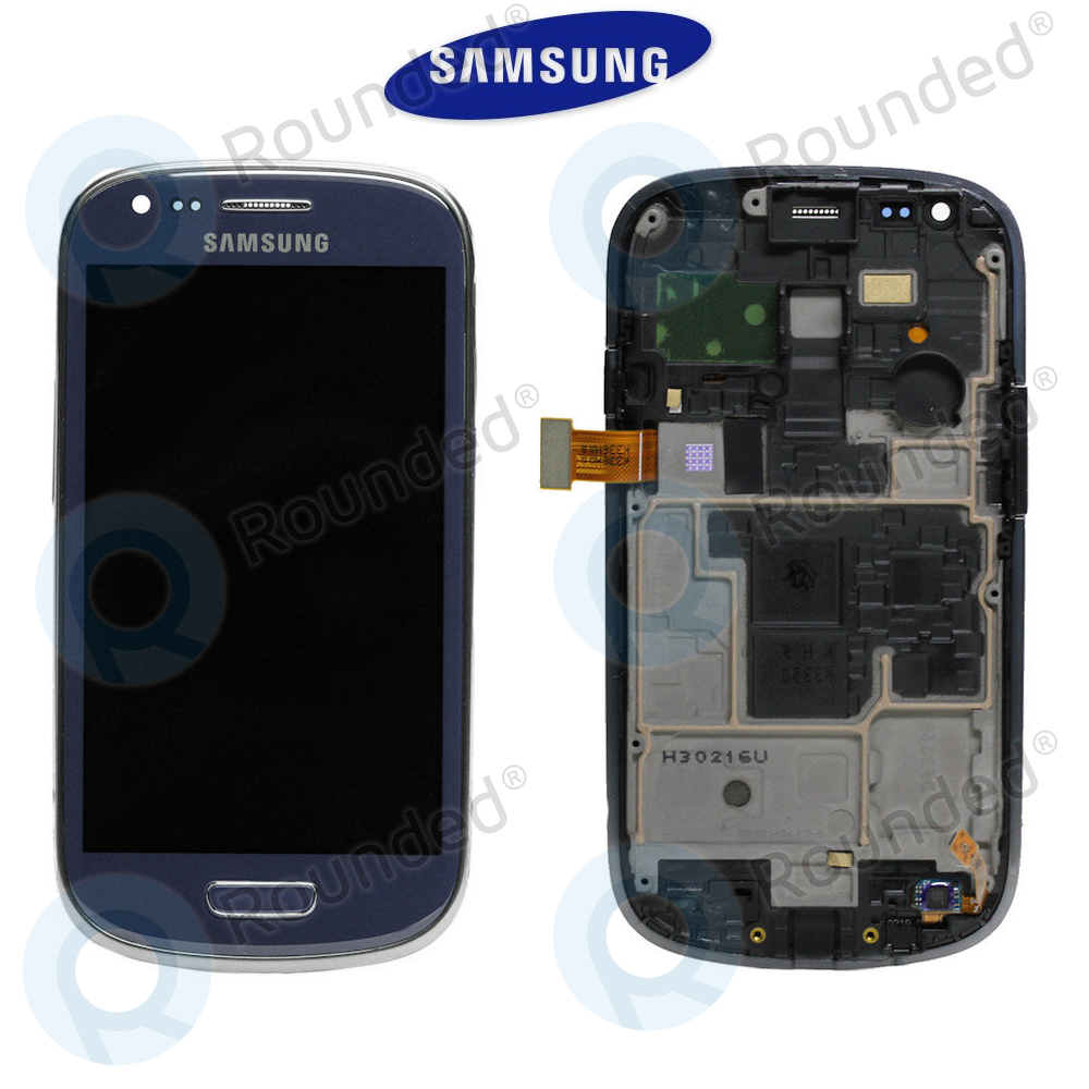 samsung galaxy s3 mini i8190 display unit complete blue. Black Bedroom Furniture Sets. Home Design Ideas