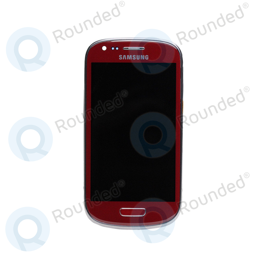 Samsung Galaxy S3 Mini (I8190) Display unit complete red