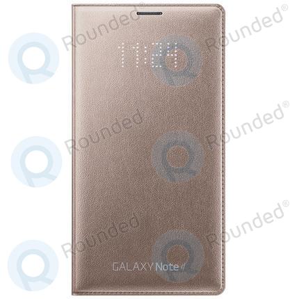big sale 9ce98 099e0 Samsung Galaxy Note 4 LED Flip wallet gold EF-NN910BEEGWW