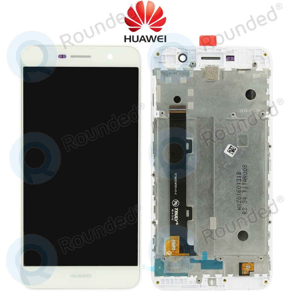 Huawei Y6 Pro (TIT-AL00) Display module frontcover+lcd+digitizer white  97070MDU