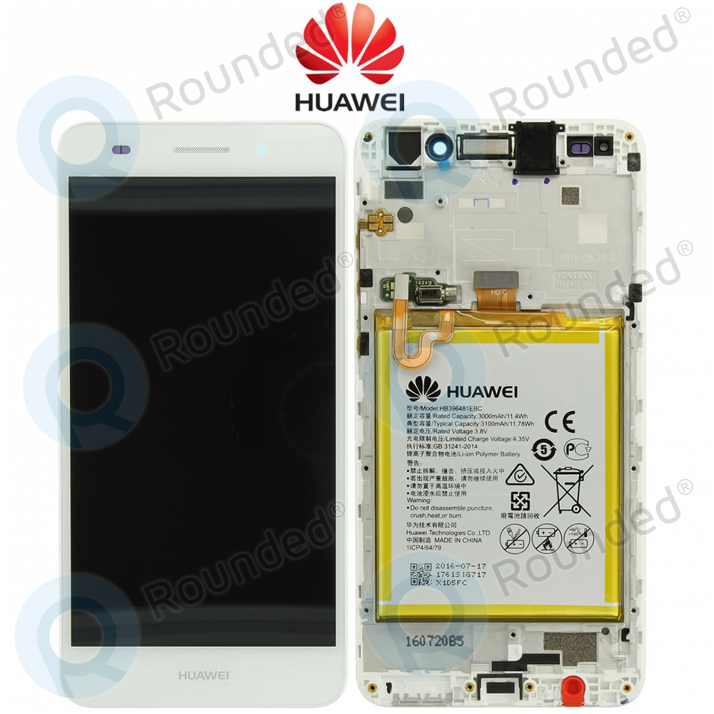 Huawei Y6 II (CAM-L21) Display module frontcover+lcd+digitizer+battery  white 02350VRS
