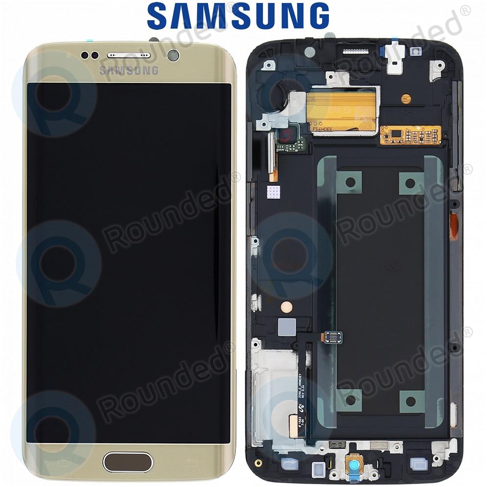 Samsung Galaxy S6 Edge (SM-G925F) Display unit complete gold GH97-17162C GH97-17162C