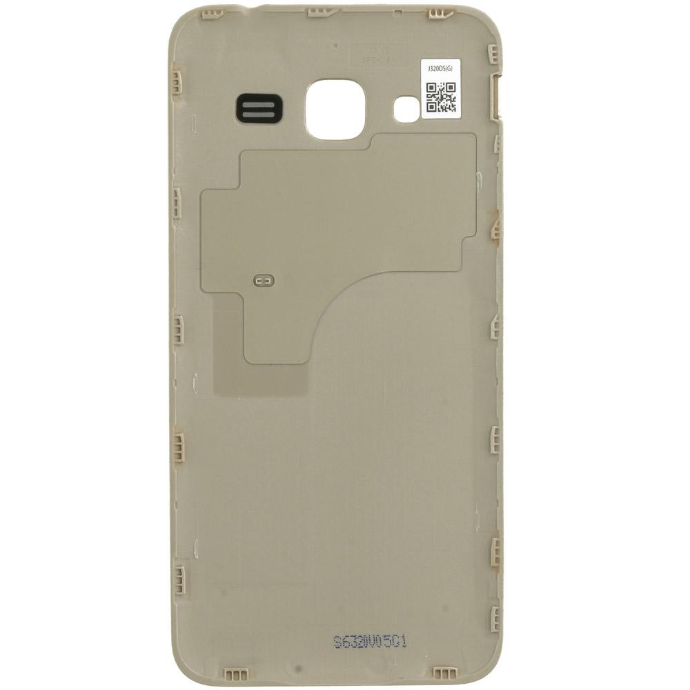 Samsung Galaxy J3 2016 Duos (SM-J320F, SM-J320DS) Battery cover gold  GH98-38690B