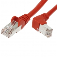 FTP CAT6 network cable 0.25 meter Type: S/FTP CAT6. Wires: AWG 27/7. Connector 1: RJ45 Male. Connector 2: RJ45 Male. Length: 0.25 meter. Color: Red. Halogen free: No. Extra: 1x Right angle cable.