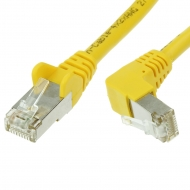FTP CAT6 network cable 0.25 meter Type: S/FTP CAT6. Wires: AWG 27/7. Connector 1: RJ45 Male. Connector 2: RJ45 Male. Length: 0.25 meter. Color: Yellow. Halogen free: No. Extra: 1x Right angle cable.