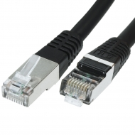 FTP CAT6 network cable 1 meter Type: S/FTP CAT6. Wires: AWG 27/7. Connector 1: RJ45 Male. Connector 2: RJ45 Male. Length: 1 meter. Color: Black. Halogen free: Yes.