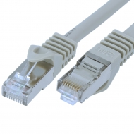 FTP CAT7 network cable 3 meter Type: S/FTP CAT7. Wires: AWG 26. Connector 1: RJ45 Male. Connector 2: RJ45 Male. Length: 3 meter. Color: Grey. Halogen free: Yes.