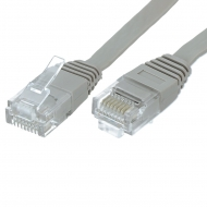 UTP CAT6 network cable 1 meter Type: U/UTP CAT6. Connector 1: RJ45 Male. Connector 2: RJ45 Male. Length: 1 meter. Color: Grey. Halogen free: No. Extra: Slim flat cable.