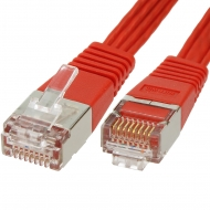FTP CAT6 network cable 5 meter Type: S/FTP CAT6. Connector 1: RJ45 Male. Connector 2: RJ45 Male. Length: 5 meter. Color: Red. Extra: Flatcable